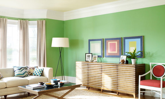 It Is A Less Expensive Route And Can Really Add Charm To A Space! Also, Try  Painting Your Room Green For A Refreshing Look This Spring!