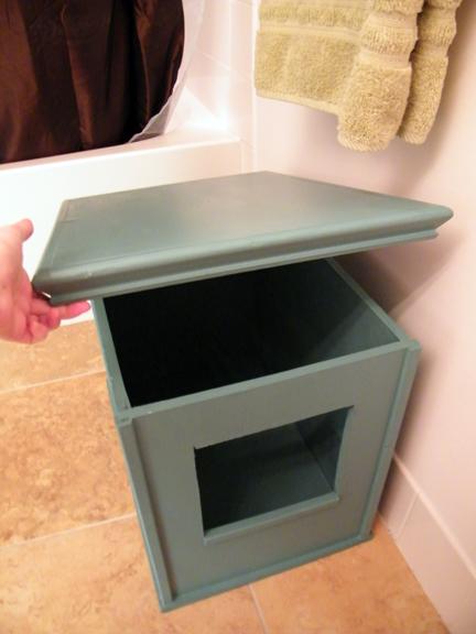 diy kitty litter box a design story. Black Bedroom Furniture Sets. Home Design Ideas
