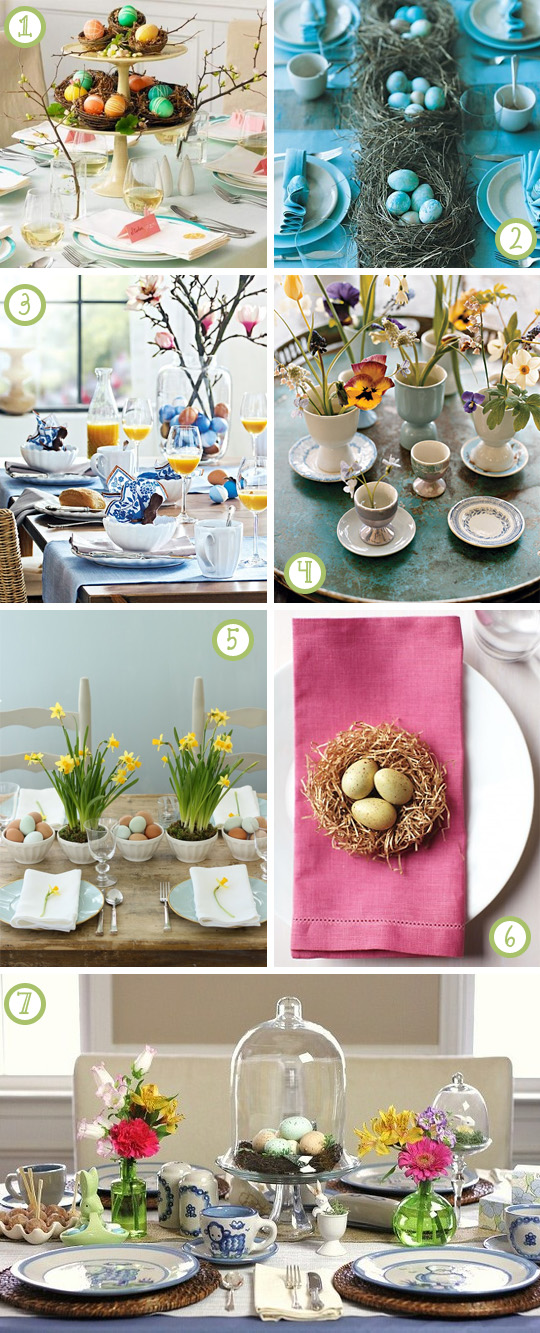 7 Easy Easter Tablescapes