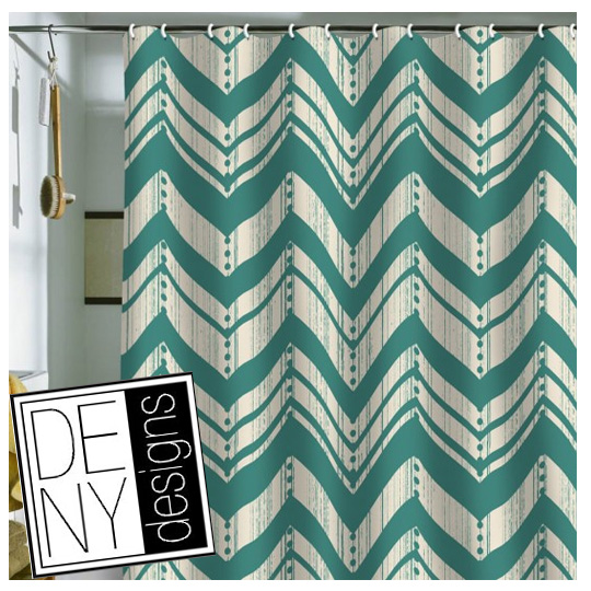 Go Back > Gallery For > Teal Chevron Shower Curtain