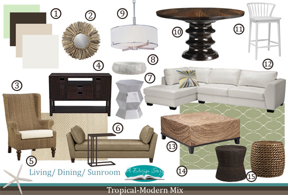 E-Design: Tropical & Modern Mix