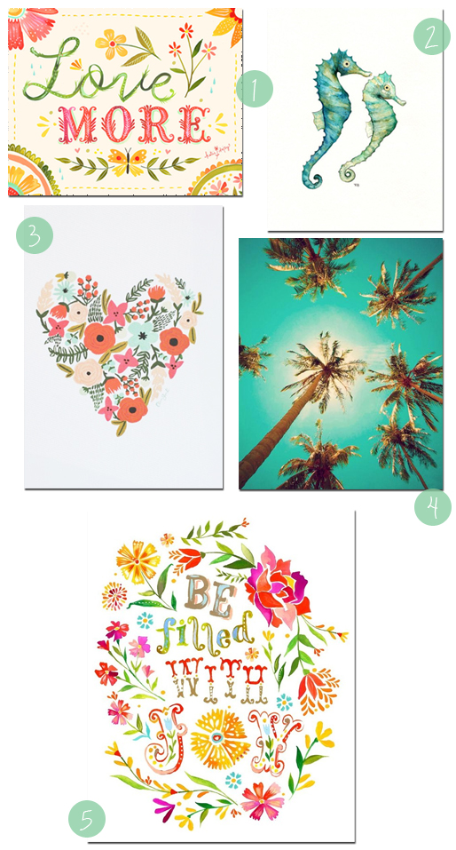 5 Fun Graphic Art Prints