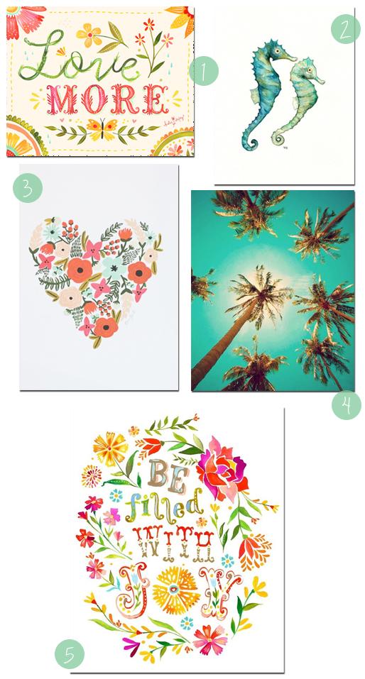 5 Fun Graphic Art Prints