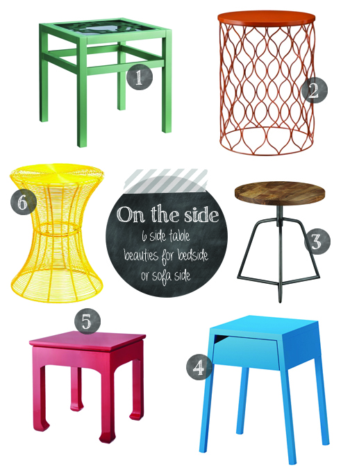 6 Awesome Side Tables