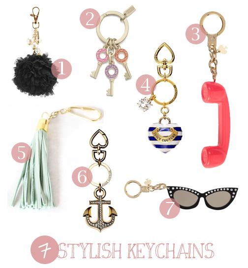 7 stylish keychains