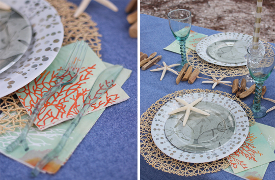 Beachy Tablescape