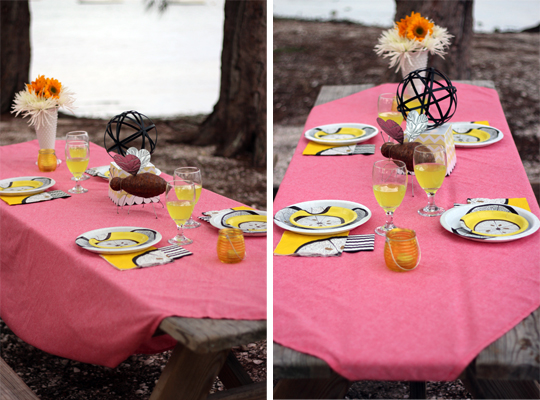 Yellow & Black Tablescape