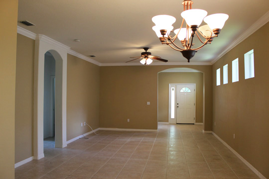 Dining Room & Living Room Before