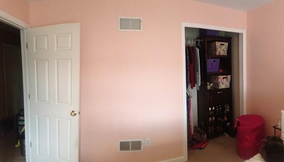 Bedroom Closet Wall Before