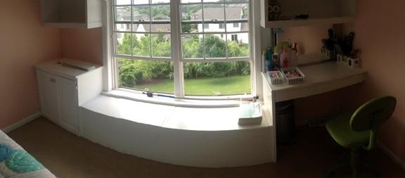 Bedroom Window Seat Before