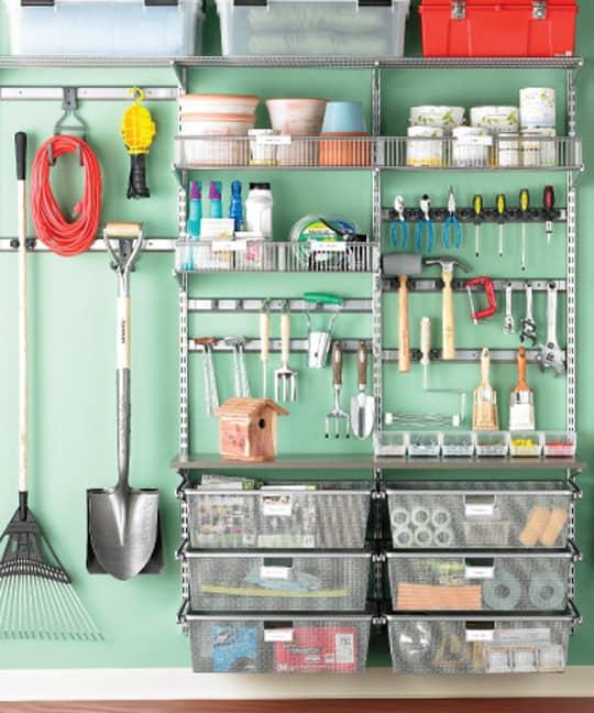 organizing garage