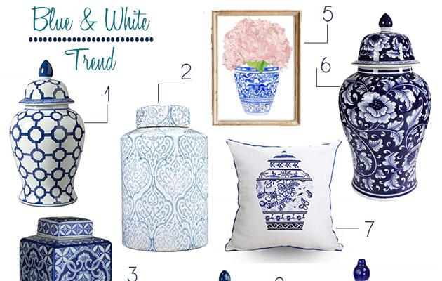 Blue & White Porcelain Trend