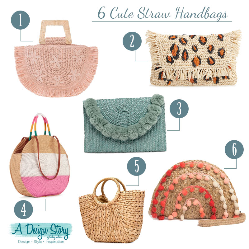 6 Cute Straw Handbags